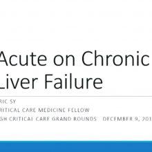 2011-12-09 Acute on Chronic Liver Failure - Sy