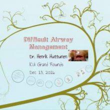 2016-12-13 Difficult Airway Management - Huttunen