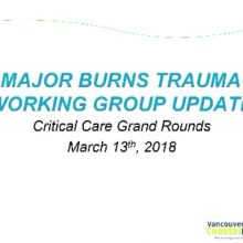 2018-03-13 Major Burns and Trauma Working Group Update - Various