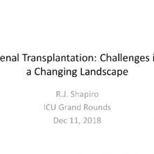 2018-12-11 Renal Transplantation - Shapiro